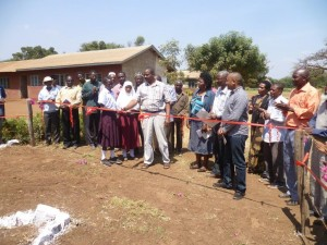 Local government officials cutting the ribbons at Rau River Primary School.