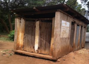 The old, dangerous toilet block at Rau River Primary School.
