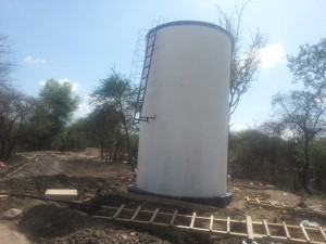 Mbwade tank after rehabilitation.