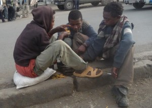 Boys who live on the street before joining Retraks vocational training.