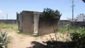 School toilet before rehabilitation.