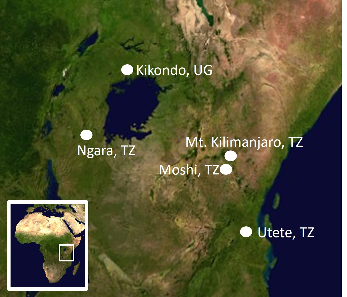 Africa Destinations Map 2