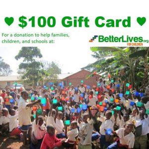 gift card 100 heart