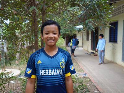 Nareth before his classes at CFI